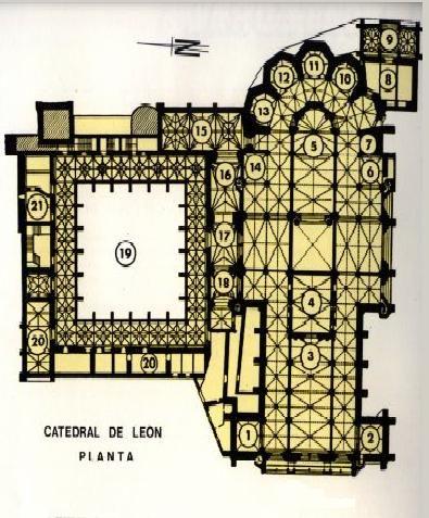 Plantas de catedrales de espa a catedral de le n la for Plantas de interior madrid