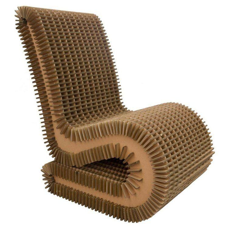 Fauteuil Original En Carton Design Materiaux Verts Naturels Idee Fauteuil En Carton Chaise En Carton Mobilier En Carton