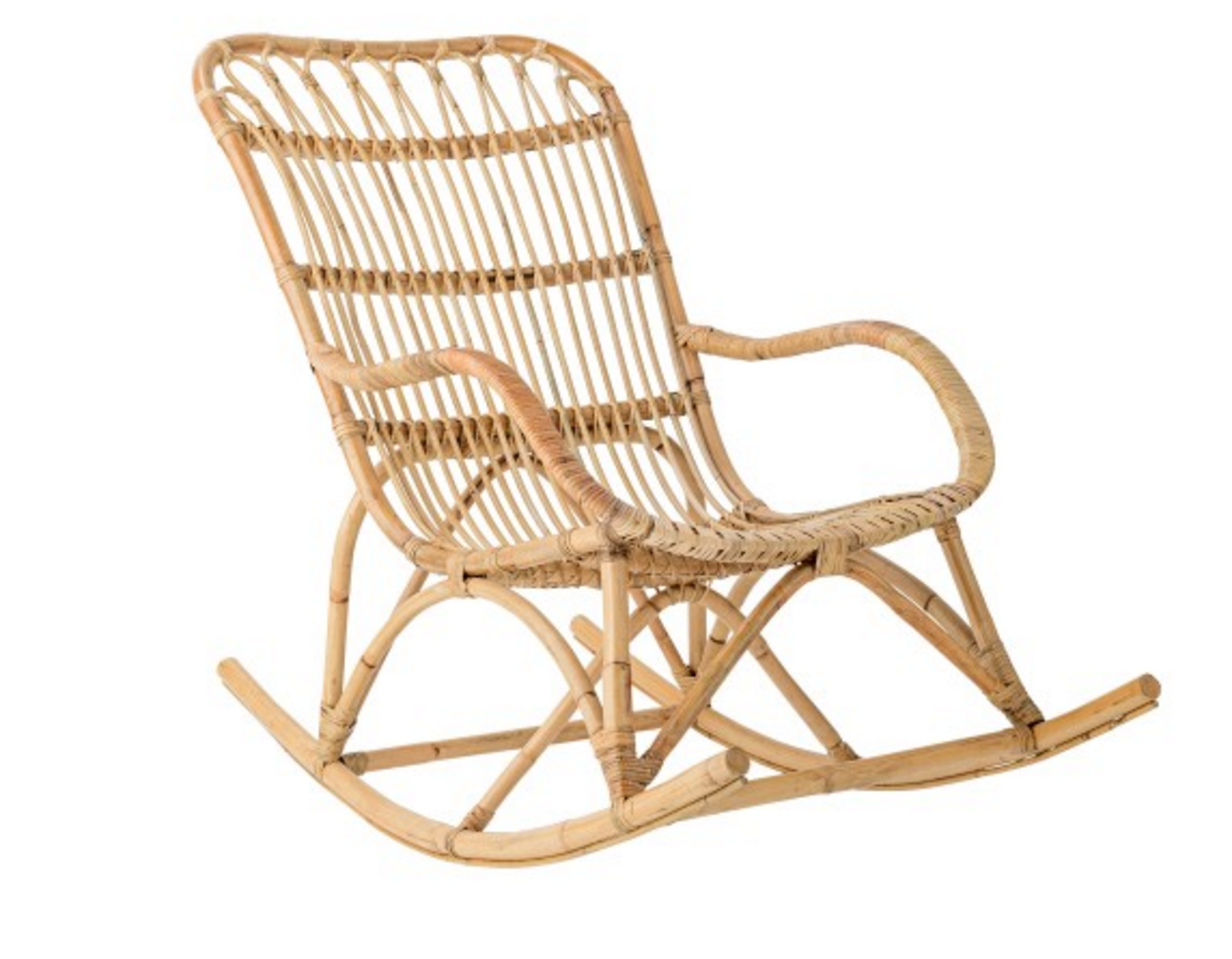Bloomingville Rattan Rocking Chair In Natural Product Name: Manuela Out  There Interiors Http:/