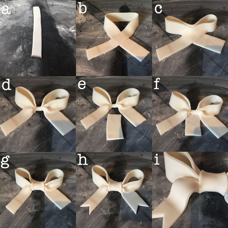 How to make a fondant bow cake topper #cakedecorating