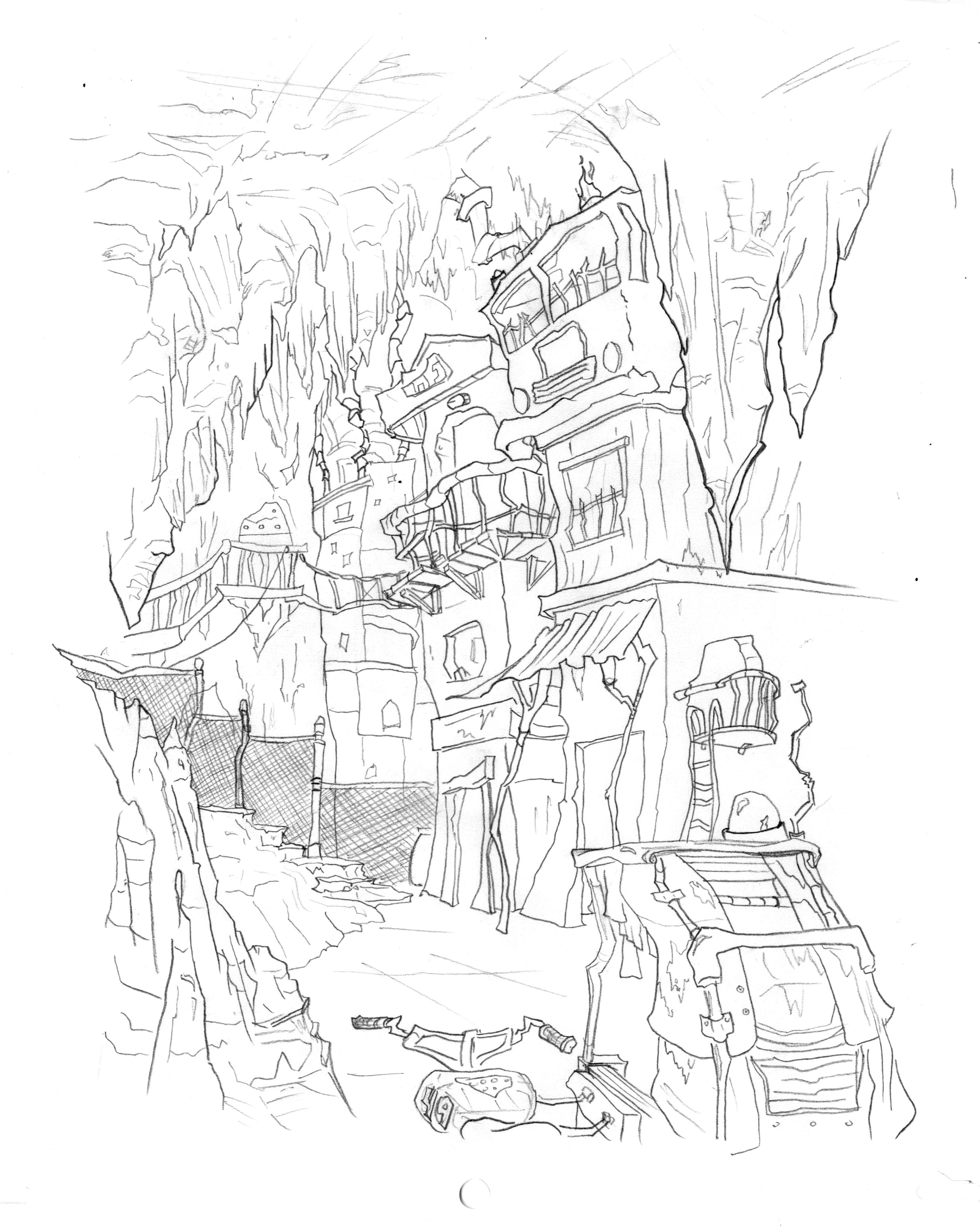 Underground City Layout Animation Linework Samanthallanes Tumblr