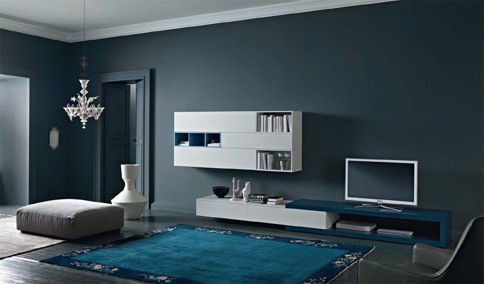 Soggiorno Sangiacomo ~ Disegno wall unit iv by sangiacomo italy in matt bianco azzurro