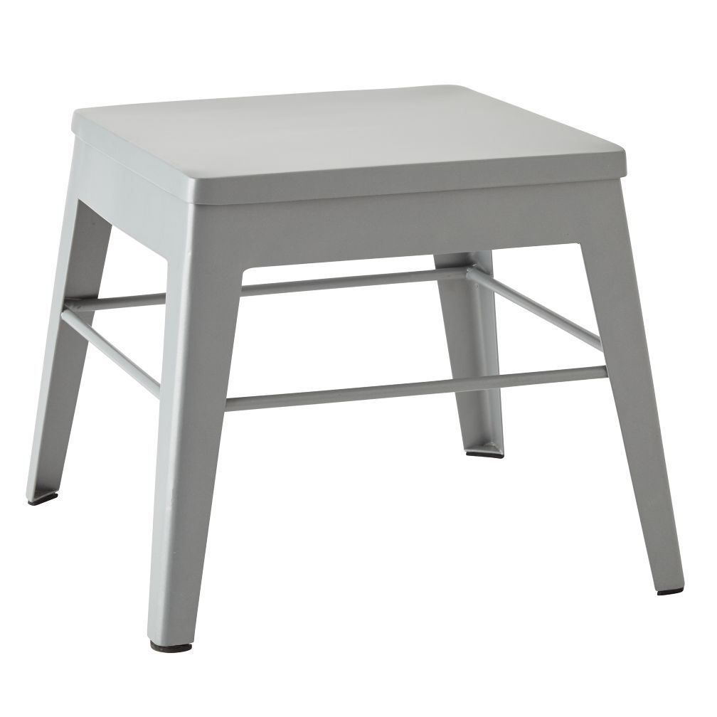 Wondrous Squared Up Steel Grey Step Stool Crate And Barrel Stool Pdpeps Interior Chair Design Pdpepsorg