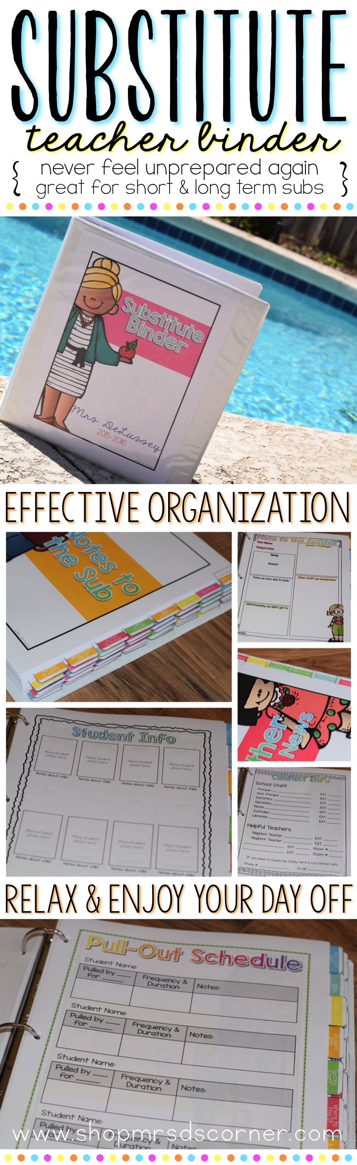 Substitute Binder EDITABLE { for Short and Long Term Subs } Melonheadz #planningyourday