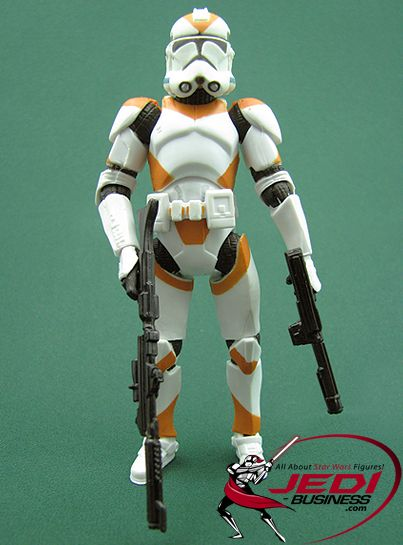 2008 Star Wars Clone Wars Clone Trooper Orange 212th Army Republic Battle Pack