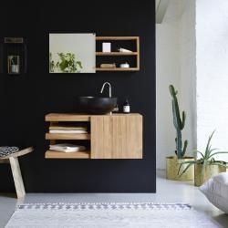 Photo of Mobile lavabo in teak 90 Typo TikamoonTikamoon