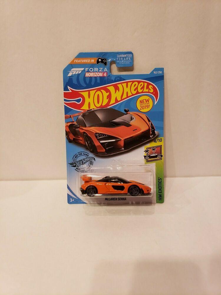 Hot Wheels Long Card 162//250 McLaren Senna orange forza