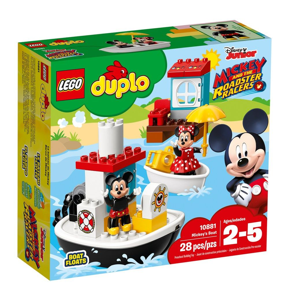Disney S Mickey Mouse Lego Duplo Mickey S Boat Set 10881 Mouse Lego Disney Mickey Lego Duplo Lego Lego Duplo Sets