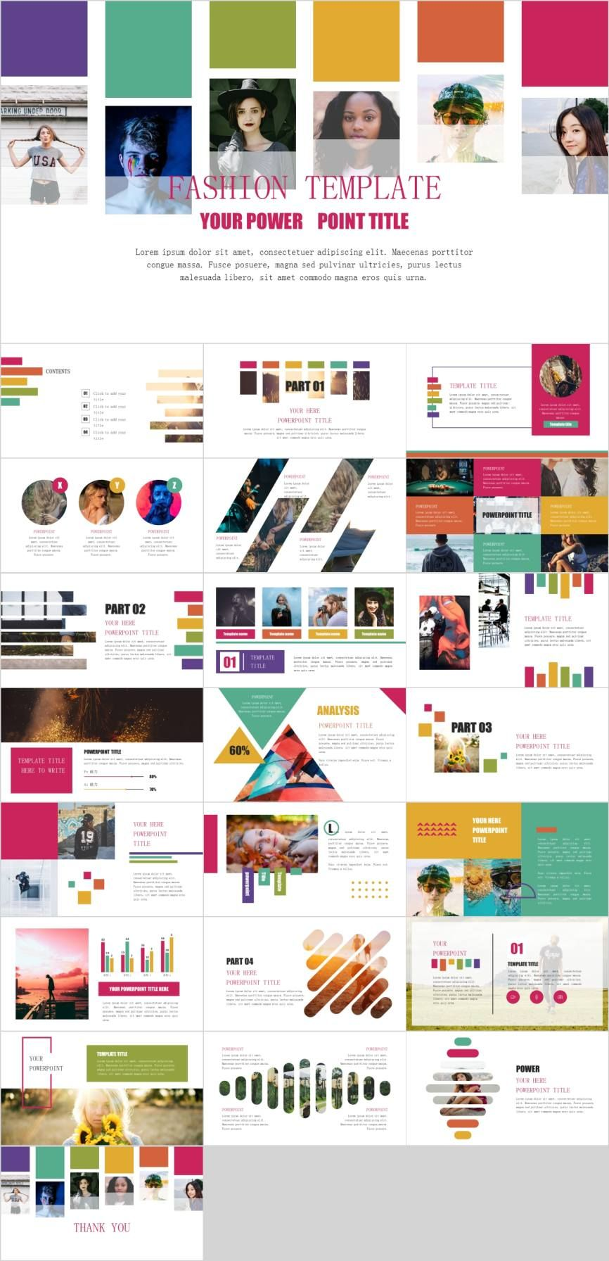 Multicolor Fashion Modern Powerpoint Template Pcslide Com