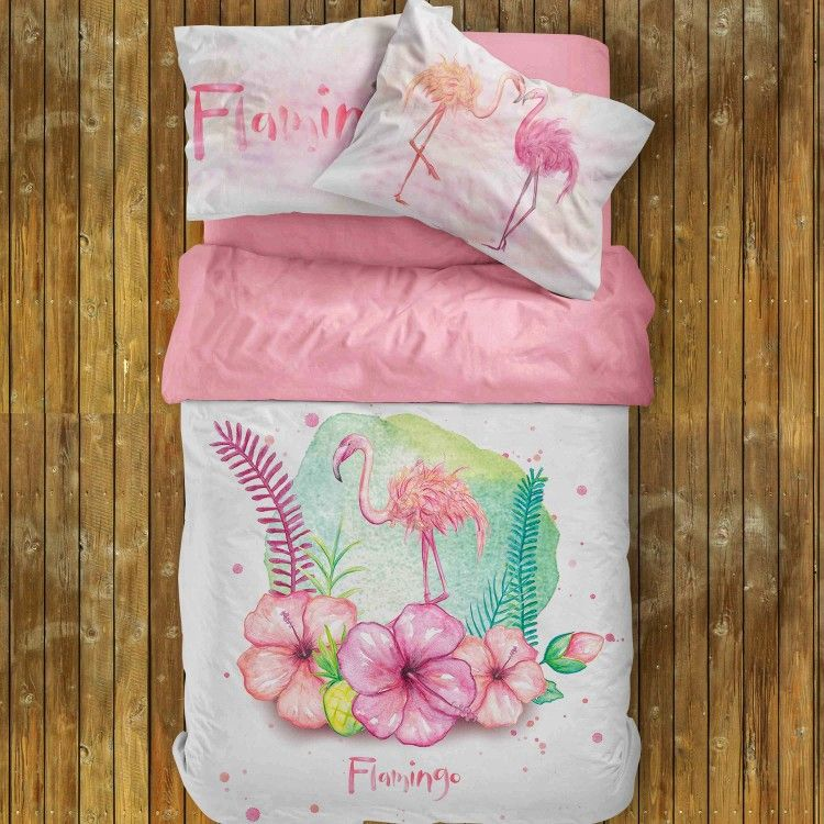 Pin By Bagunbedding On Etsy Etsy And More Etsy Tropical Bedding Tropical Bedding Sets Pink Bedding Set