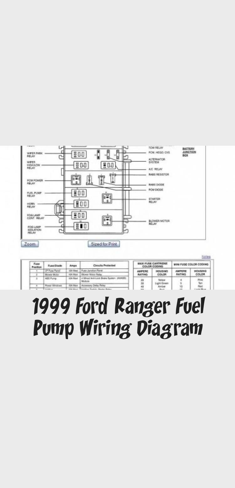 1999 Ford Ranger Fuel Pump Wiring Diagram In 2020  With Images