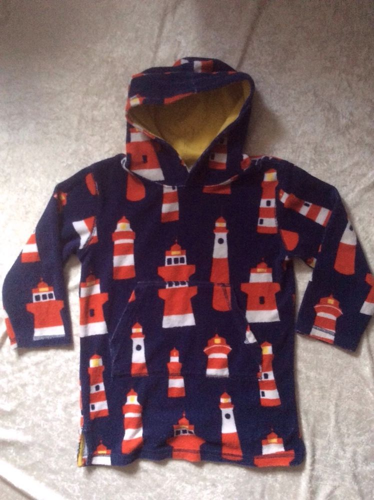 81c532140a9e6 Mini Boden 5-6Y Toweling Swim Cover Lighthouse Swimsuit Coverup Boys Girls