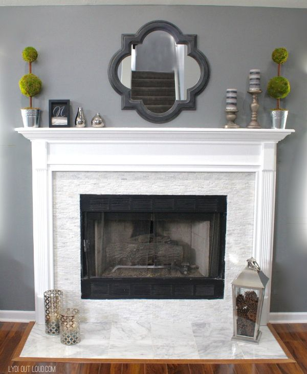 fireplace makeover home ideas pinterest fireplace remodel rh pinterest com how to replace fireplace tiles how to replace fireplace tile inserts