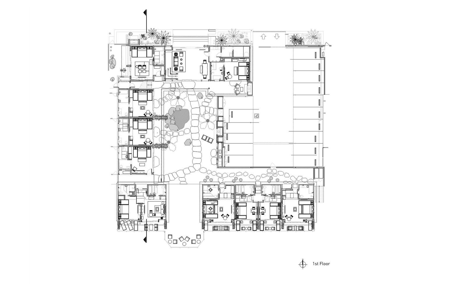 Gallery Of Nobu Ryokan Hotel Studio Pch Montalba Architects And Tal Studio 17 Ryokan Hotel Floor Floor Plans
