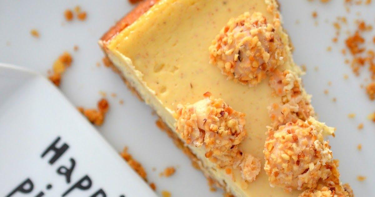New York Cheesecake mit Nuss hoch 3