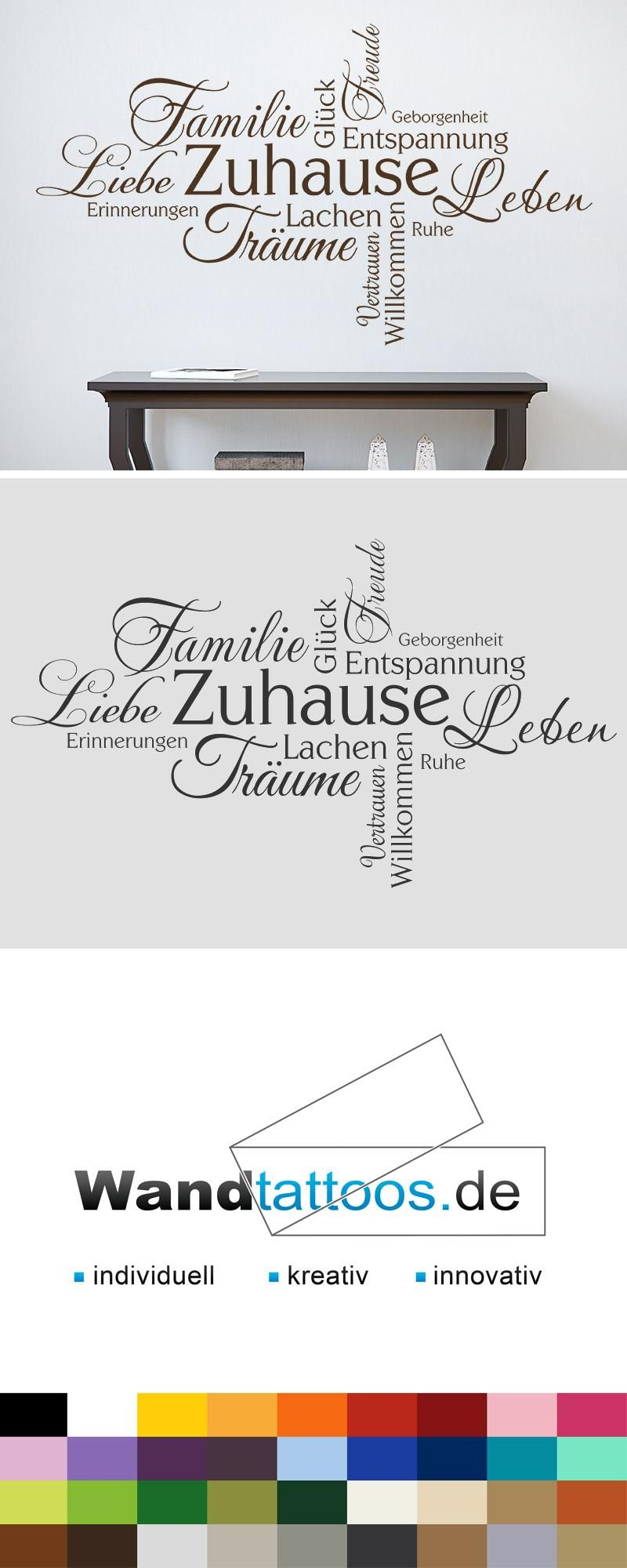 wandtattoo zuhause wortwolke familie gl ck wortwolken lieblingsfarbe und wandtattoos. Black Bedroom Furniture Sets. Home Design Ideas