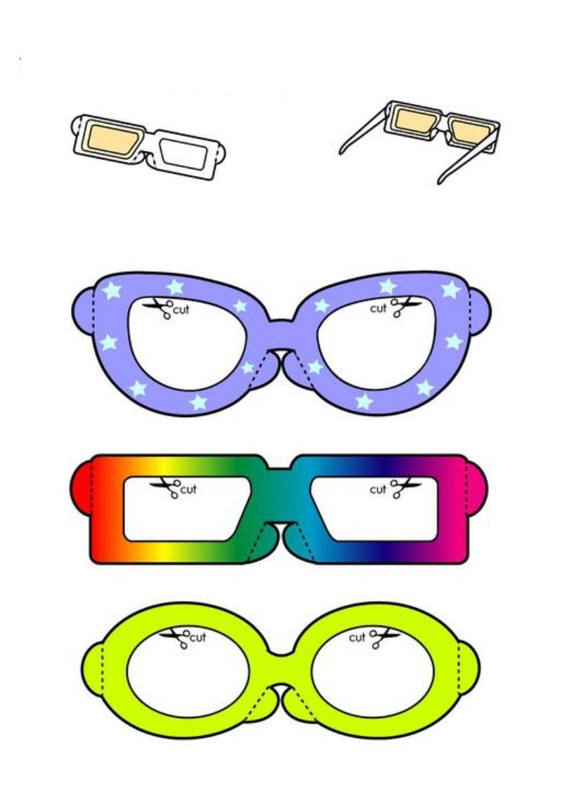 Maski Do Drukowania I Wycinania Okulary Maski Karnawalowe Wycinanki Square Glass