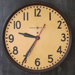 General Electric Wall Clock With Images Vintage Clock Clock Wall Clock
