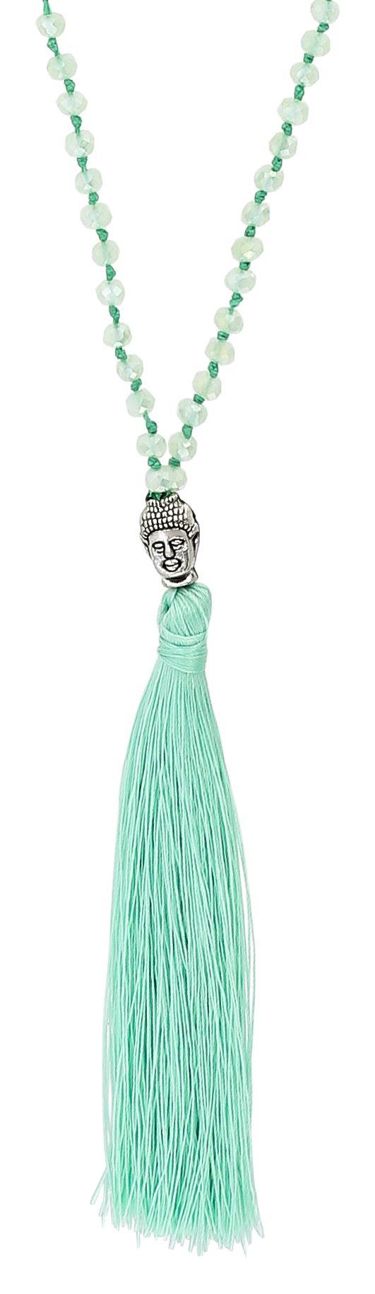 Kette Green Light Buddha Tassel necklace, Jewelry, Bijoux