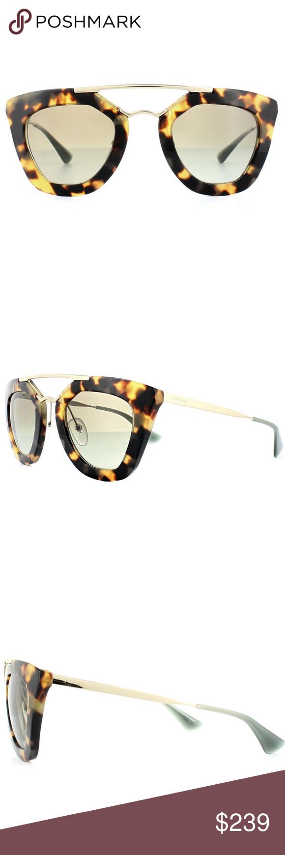 0b289b20f3 Prada Sunglasses Medium Havana w Green Prada Cat Eye Style Women s  Sunglasses 49mm Lens Size Having Medium Havana Color Plastic   Metal Frame with  Green ...