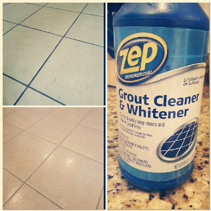 Zep grout cleaner and whitener! Works great! The proof is ...