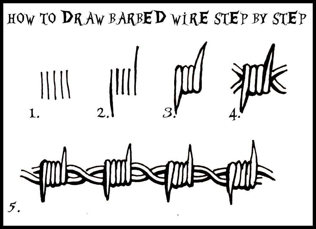 Barbed wire drawing google search tutorials