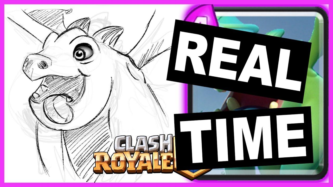 Kids Art Lesson œ� How To Draw Baby Dragon From Clash Royale