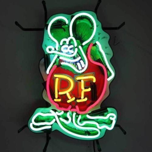 Details About Retro Neon Sign Rat Fink Ratrod Hot Rod
