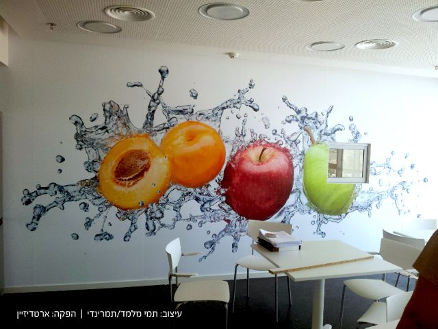 Environmental graphic design cafeteria mentor graphics for Environmental graphics wall mural