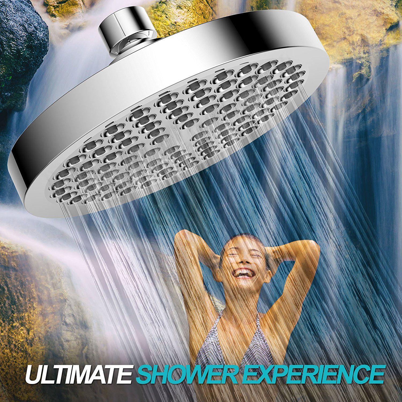Rain Shower Head - High Pressure Rainfall - Luxury Modern Chrome ...