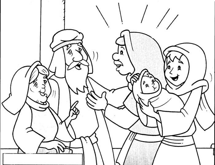 Simeon and Anna - Coloring Page - SundaySchoolist