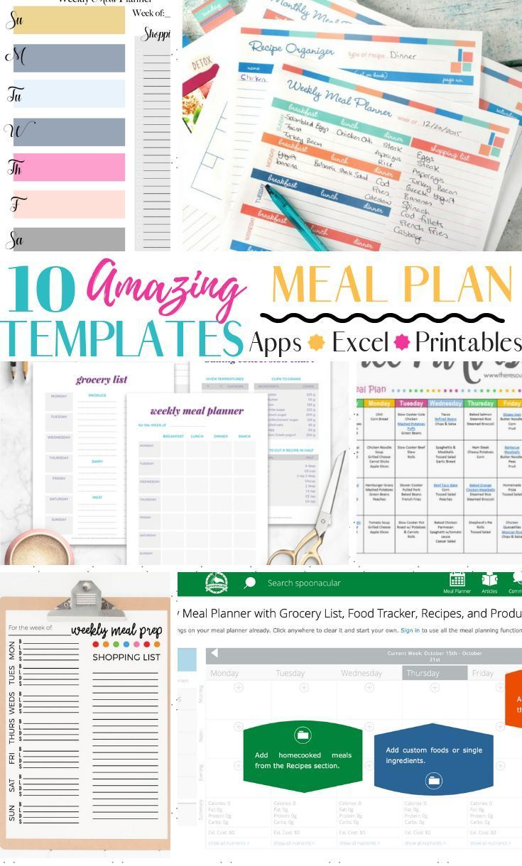 10 Amazingly Useful Meal Planning Template You Should Have Meal