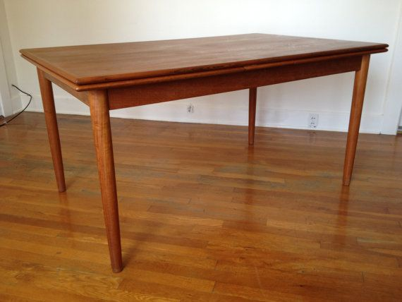 mid century danish extendable teak dining table by by denmobler