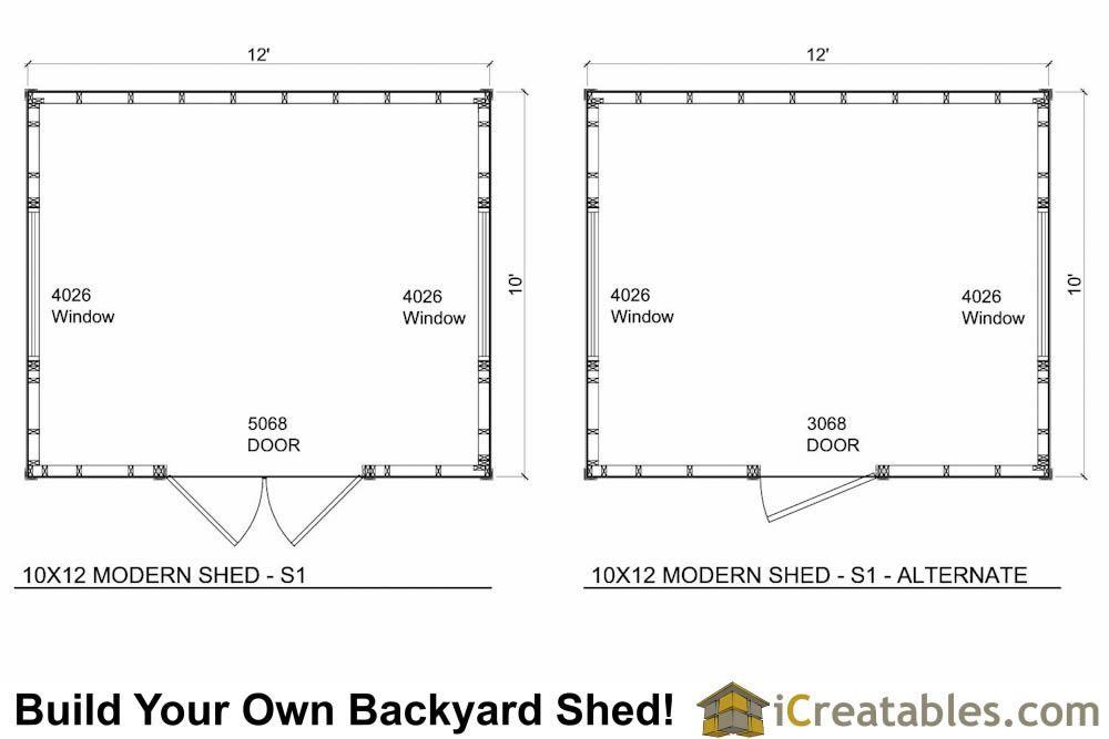 Best 10X12 Studio Shed Plans S1 10X12 Office Shed Plans 400 x 300