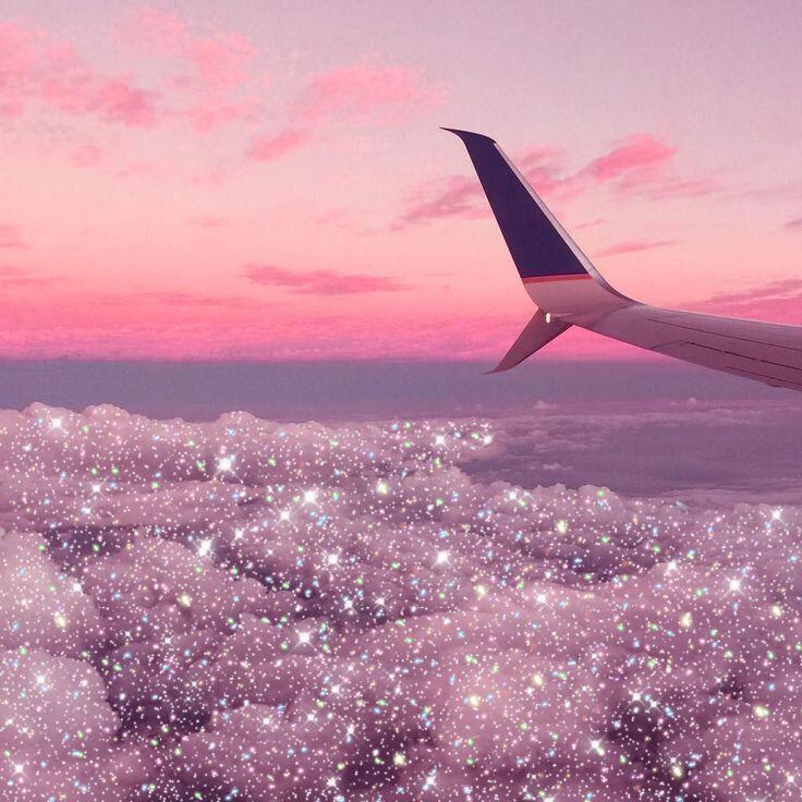 Pink glitter aesthetic