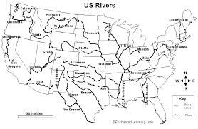 blank map of us rivers - Google Search | O F F I C E | Us map, Map ...