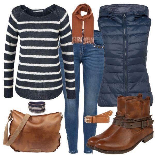 Damen Herbstfarben-Outfit - Komplettes Herbst-Outfit Günstig kaufen bei FrauenO... - Kleider #herbstoutfitdamen