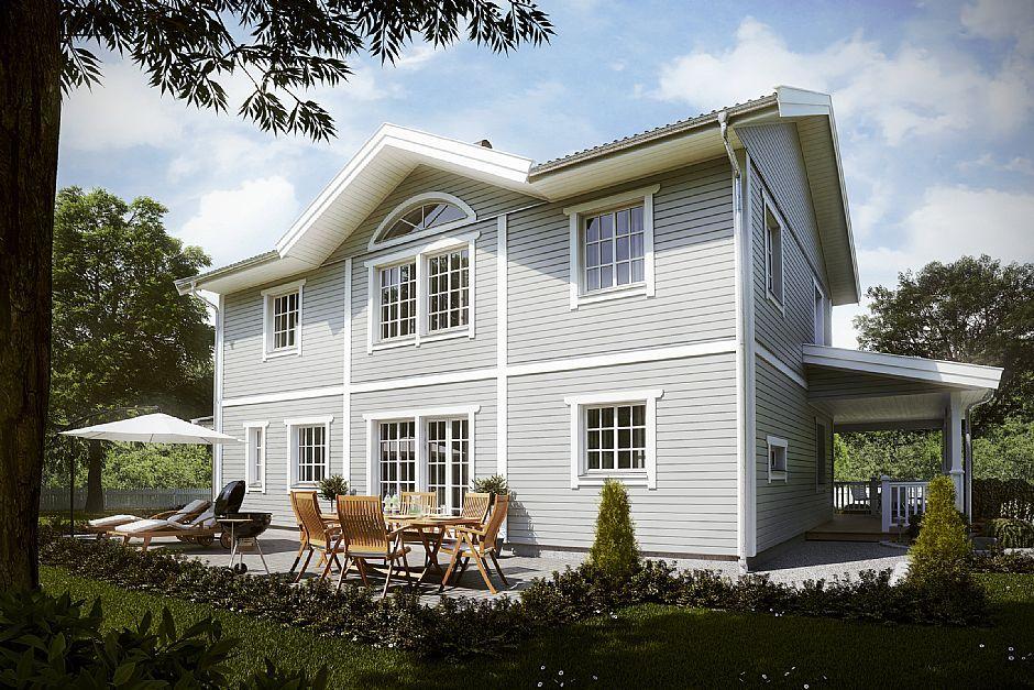 ljusgr n f rg new england stil wooden house pinterest. Black Bedroom Furniture Sets. Home Design Ideas
