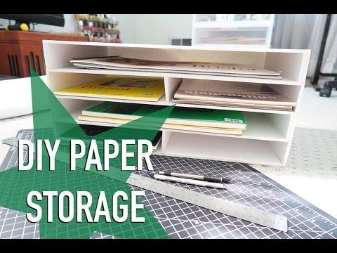 3 Level Cardboard Desk Drawer Organizer With Sliding Trays Recycle Diy Youtube Paper Storage Desk Organization Diy Diy Storage Desk