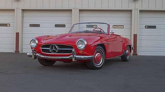 1955 Mercedes Benz 190sl Roadster 1 9l 4 Speed With Images