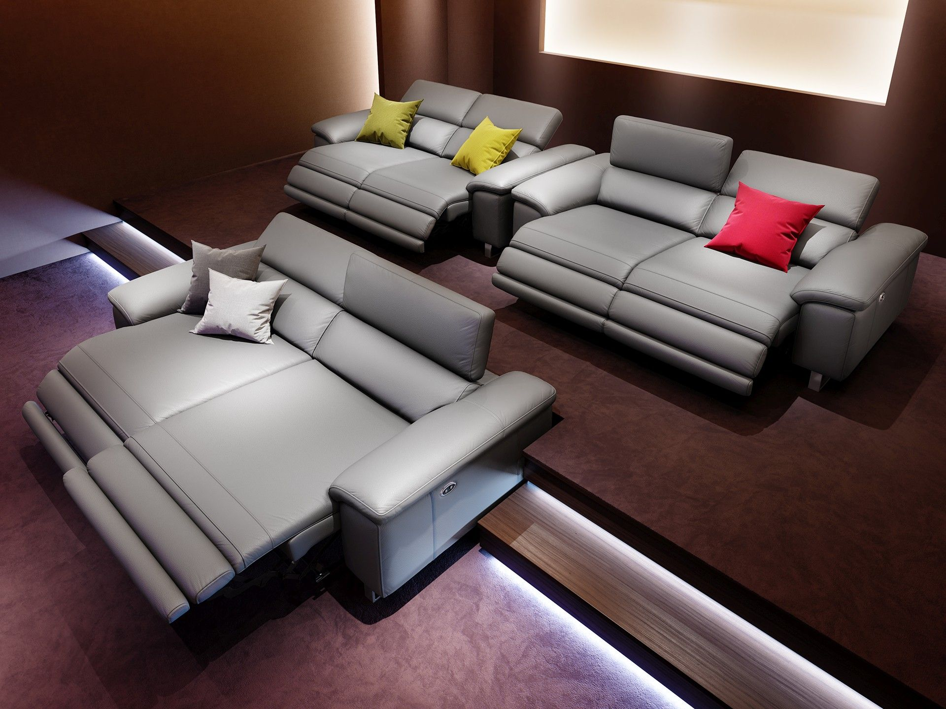 designer ledersofa mit relaxfunktion sofanella ko 39 s theater room sofa home cinemas couch