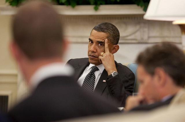 Obamas Fingers