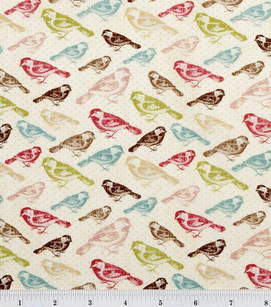 Shop Premium Quilt Fabric-Flee Market Birds & Premium Quilting ...