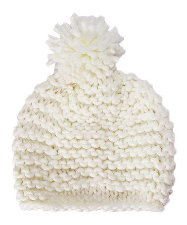 Cream Pom-Pom Beanie by B&B Couture #zulily #zulilyfinds