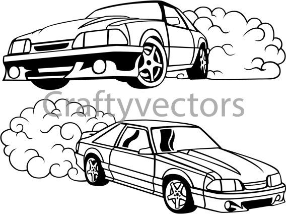 Mustang Fox Body Outline
