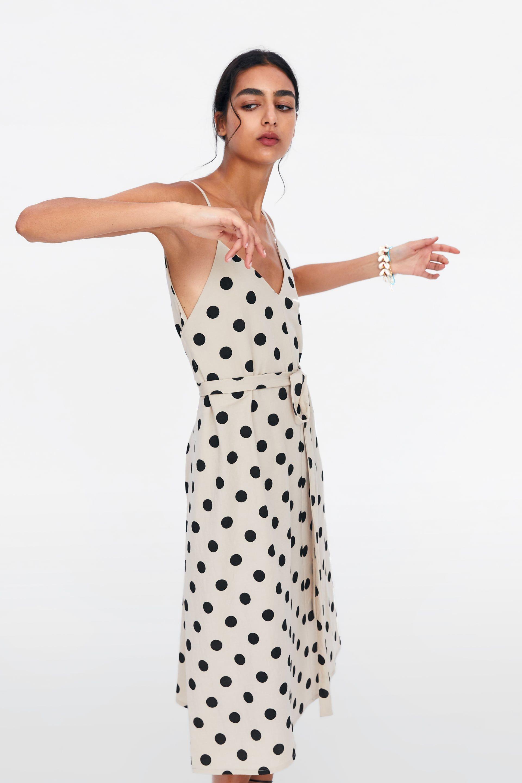 8cefa084 Polka dot dress with belt in 2019 | Europe 2019 | Dot dress, Belted ...