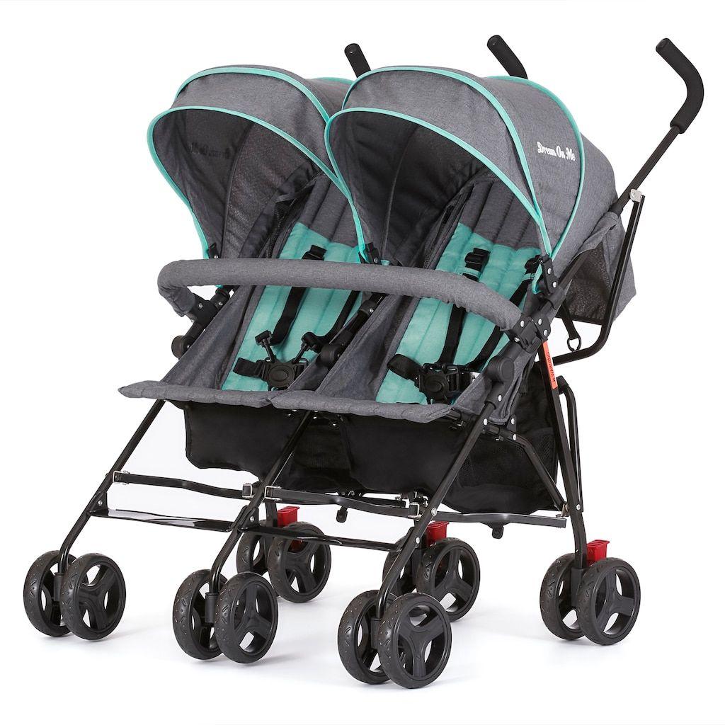 Dream On Me Volgo Twin Umbrella Stroller, Multicolor
