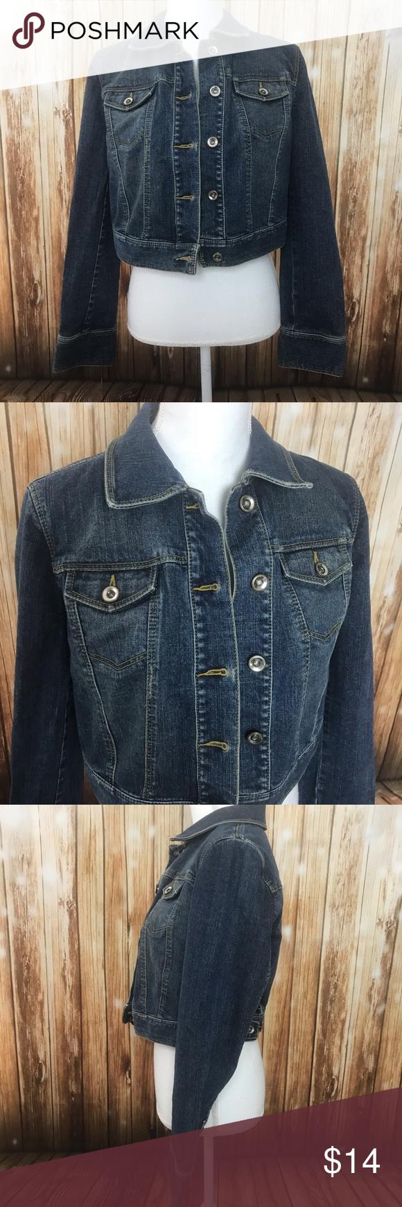 Loft blue jean jacket denim crop Measurements and care