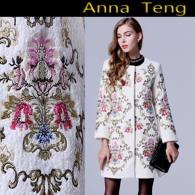 Find More Trench Information about DHL Free shipping! XXL Plus Size Women Winter Coat Noble Elegant Flower Embroidery Wool Coat Overcoat casacos femininos,High Quality overcoat wool,China coat overcoat Suppliers, Cheap coat dresses for women from ShenZhen Runway Fashion Life International Trade Co., Ltd on Aliexpress.com