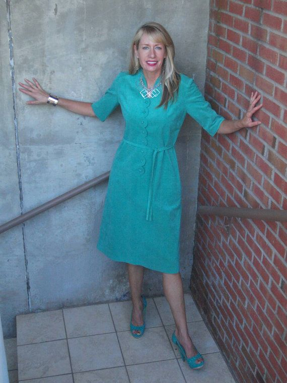 Check out this item in my Etsy shop https://www.etsy.com/listing/471725520/vintage-suede-dress-mint-green-button-up
